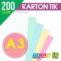 Kertas Karton TIK 200 Gram Ukuran A3 (420 x 297 mm)