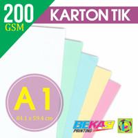 Kertas Karton TIK 200 Gram Ukuran A1 (840 x 594 mm)
