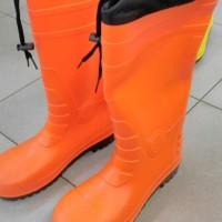 Promo Sepatu Safety Boot Rubber Orange (M/39-40) Krisbow Kw1000434