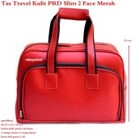 Tas Travel Kulit Suede PRD 2 Face Slim Best Produk
