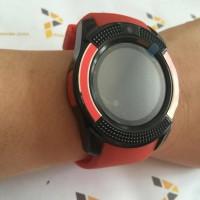 Promo Smartwatch V8 Red / Smart Watch V8 Bluetooth Sim Card Memory