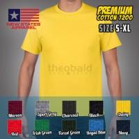 Kaos Oblong New States Apparel Premium Cotton 7200 (COLOR, SIZE S-XL)