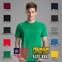 Kaos Oblong New States Apparel Premium Cotton 7200 (COLOR, SIZE 2XL)