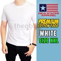 Kaos Polos NSA Premium Cotton 720 ( WHITE, SIZE XXL )