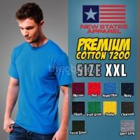 Kaos Polos New States Premium Cotton 7200 ( COLOR, SIZE 2XL )