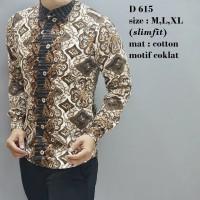 Kemeja Batik Pria Lengan Panjang Eksklusif Fashion Hari Raya Masa Ki
