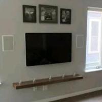 Ambalan Rak Dinding TV Minimalis Panjang 120 Lebar 20 H PROMO