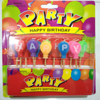 Lilin ulang tahun candle party birthday pack 1 lusin