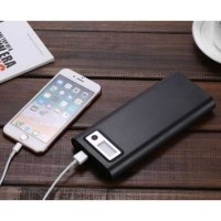 DIY Power Bank Case USB Type C Dual Output & LCD 8x18650 Hitam