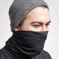 Masker buff hitam polos import