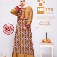 BARU Model Baju Pesta Muslim Nibras NB 178 Gold ORIGINAL