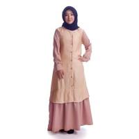 Busana baju dress syari gamis Muslimah Wanita Dewasa Terbaru TS172