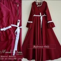 Busana baju dress syari gamis Muslimah Wanita Dewasa Terbaru TS103