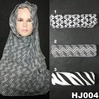 Pashmina Hijab Jilbab ootd Monochrome Murah ilf
