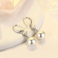 anting hook berbandul pearl dengan zircon cantik menawan ilf