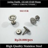 Anting Tindik Cowok Pria - Gear Star 9/6mm ilf