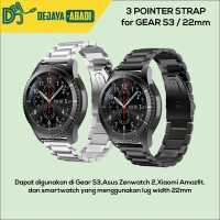 Strap 3 Pointer Strap for Samsung Gear S3 and Smartwatch 22mm