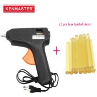Kenmaster Glue Gun Lem tembak 60 W + 12 Pcs Lem Stick Besar