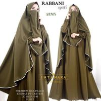 Rabbani setelan hijab syari Gamis Khimar Cadar Niqob Wolfis Original