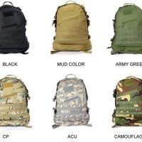 Tas Ransel Punggung Pria Cowok Cowo Men Man Backpack Bag Army 3D Murah