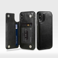 Leather Smartphone Case with Mini Wallet for iPhone X