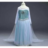 Baju Dress Gaun Kostum Anak Perempuan Frozen Elsa Tile Limited