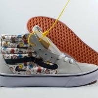 Sepatu Running VANS SK8 HI PEANUTS GANG Replika Impor