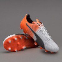Sepatu Bola PUMA original evoSPEED 3.5 Lth FG Shocking Orange 10379403