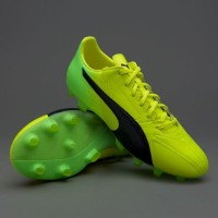Sepatu Bola PUMA original evoSPEED 17.2 Leather FG Yellow 10401601