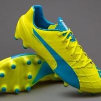 Sepatu Bola PUMA original evoSPEED 1.4 FG Safety Yellow 10326404 ecb62a2f3b