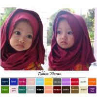 Jilbab anak bayi balita / kerudung anak bayi balita