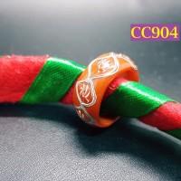 Cincin Dayak Merah Motif Dua Alur Sungai - CC904