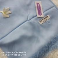Pashmina Cashmere Baby Blue Murah