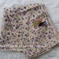 Pashmina SilKy Jasmine Purple Murah
