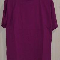 Kaos Polos Cotton Combed 20s Ungu Terong Ukuran M.