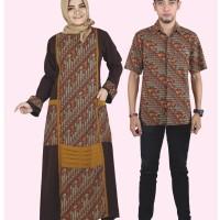 Baju Busana Muslim  Gamis Pakistan Couple Serambit Casual Coklat