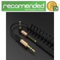 RAXFLY Kabel Audio AUX 3.5mm Spring L Jack 2M - Hitam