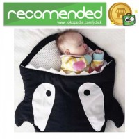 Kantung Tidur Bayi Lucu Model Shark - Hitam - XL
