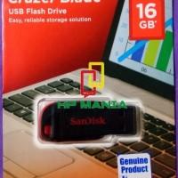 Dijual Sandisk Flashdisk Cruzer Blade 16Gb Cz50 Original Asli / Usb 16