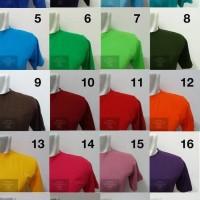 Kaos Polos Lengan Pendek Cotton Combed 30's ( SIZE S - M - L )