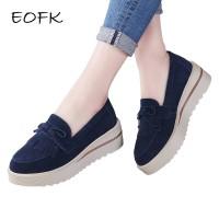 EOFK 2018 Wanita Tessel Moccasion Sepatu Platform Wanita Flat Elegan K