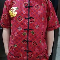 KUALITAS TERBAIK Gaun/Baju Imlek Cheongsam Pria Dewasa, bahan katun