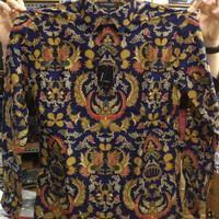BAJU PRIA BATIK kemeja Alisan batik slim fit motif AYAM JAGO