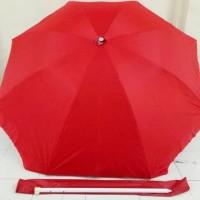 "Payung Tenda Double 46"" Biru  Diameter 210cm High Quality"