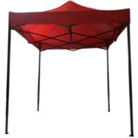 Payung Tenda 2m x 2m Merah High Quality - Rangka Besi Warna Hitam