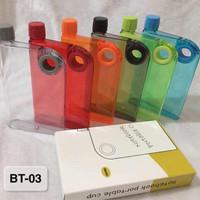 Botol Minum Notebook Portable Souvenir BT-03