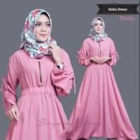 BIG SALE HARGA TERMURAH Dress Muslim Dhelia Zipper Busui / Baju Gamis