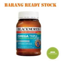 Jual Blackmores Omega Triple Concentrated Odourless Fish Oil - 150 kapsul Murah