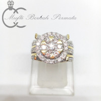 Cincin Paladium Berlian Eropa Natural Diamond Palladium Ring