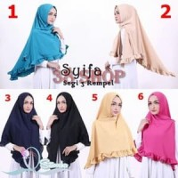 The Best Product Segitiga Khimar Rempel Original Syifa / Jilbab / Keru
